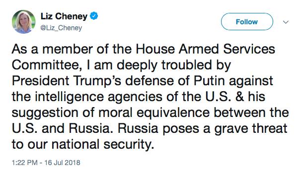 cheney tweet